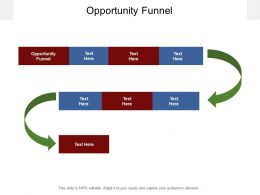 Opportunity Funnel Ppt Powerpoint Presentation Outline Example Topics Cpb