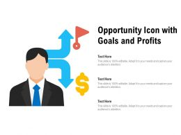 Opportunity Icon With Goals And Profits