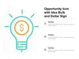 Opportunity Icon With Idea Bulb And Dollar Sign