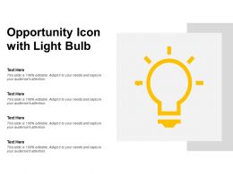 Opportunity Icon With Light Bulb