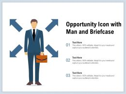 Opportunity Icon With Man And Briefcase