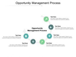 Opportunity Management Process Ppt Powerpoint Presentation Model Grid Cpb