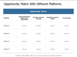 Opportunity Matrix With Different Platforms
