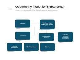 Opportunity Model For Entrepreneur