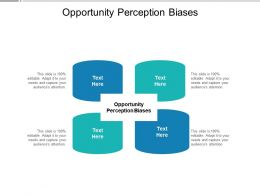 Opportunity Perception Biases Ppt Powerpoint Presentation Inspiration Graphic Tips Cpb