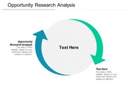 Opportunity Research Analysis Ppt Powerpoint Presentation Gallery Example Cpb