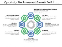 Opportunity Risk Assessment Scenario Portfolio Management Marketing Positioning