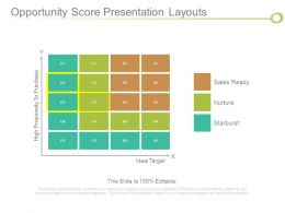 Opportunity Score Presentation Layouts