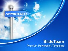opportunity_signpost_on_blue_background_powerpoint_templates_ppt_themes_and_graphics_0113_Slide01
