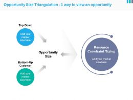 Opportunity Size Triangulation 3 Way To View An Opportunity Example Of Ppt Presentation