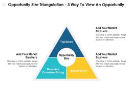 Opportunity Size Triangulation Way To View An Opportunity Resource Ppt Powerpoint Slides