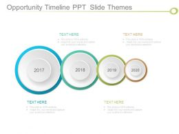 Opportunity Timeline Ppt Slide Themes