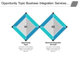 Opportunity Topic Business Integration Services Strategic Risk Indirect Procurement Cpb