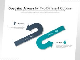 Opposing Arrows For Two Different Options