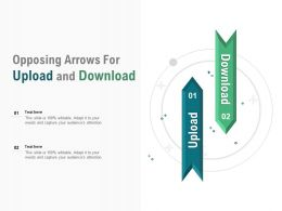Opposing Arrows For Upload And Download