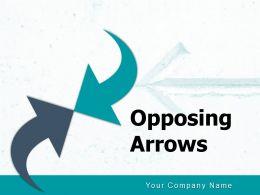 Opposing Arrows Marketing Communication Advertising Horizontal Solution Strategies