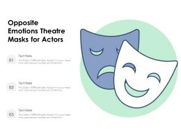 Opposite Emotions Theatre Masks For Actors