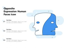 Opposite Expression Human Faces Icon