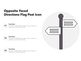 Opposite Faced Directions Flag Post Icon