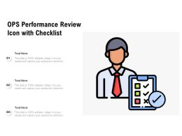 OPS Performance Review Icon With Checklist