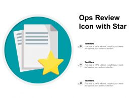 Ops Review Icon With Star