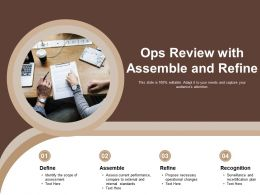 Ops Review With Assemble And Refine