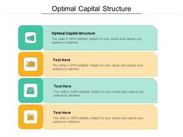 Optimal Capital Structure Ppt Powerpoint Presentation Model Background Designs Cpb