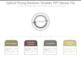 Optimal Pricing Decisions Template Ppt Sample File