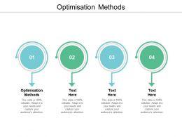 Optimisation Methods Ppt Powerpoint Presentation Ideas Structure Cpb