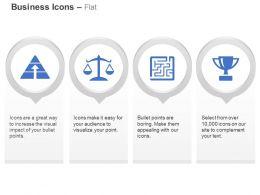 Optimism Balance Problem Maze Trophy Ppt Icons Graphics