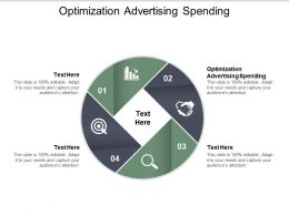 Optimization Advertising Spending Ppt Powerpoint Presentation Pictures Good Cpb