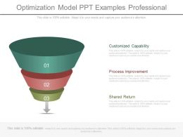 Optimization Model Ppt Examples Professional
