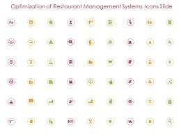 Optimization Of Restaurant Management Systems Icons Slide Ppt Powerpoint Presentation Gallery Picture