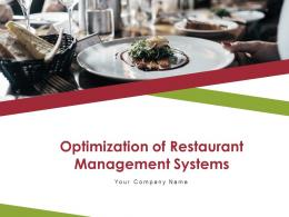 Optimization Of Restaurant Management Systems Powerpoint Presentation Slides