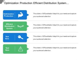Optimization Production Efficient Distribution System Minimize Impact Use Stage
