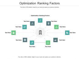 Optimization Ranking Factors Ppt Powerpoint Presentation Portfolio Rules Cpb