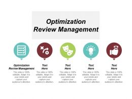 Optimization Review Management Ppt Powerpoint Presentation Infographic Template Example Topics Cpb