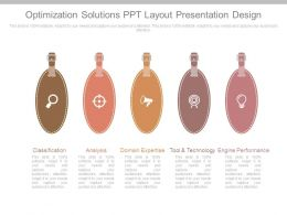 Optimization Solutions Ppt Layout Presentation Design