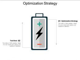 Optimization Strategy Ppt Powerpoint Presentation Portfolio Background Designs Cpb