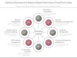 Optimize Business And Balance Sheet Performance Powerpoint Ideas