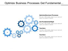Optimize Business Processes Get Fundamental Right Be Profitable