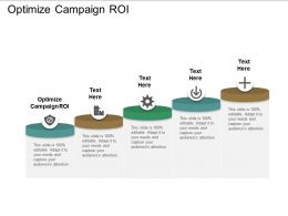 Optimize Campaign Roi Ppt Powerpoint Presentation Samples Cpb