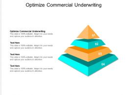 Optimize Commercial Underwriting Ppt Powerpoint Presentation Show Microsoft Cpb