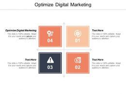Optimize Digital Marketing Ppt Powerpoint Presentation Styles Mockup Cpb