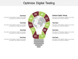 Optimize Digital Testing Ppt Powerpoint Presentation Professional Gallery Cpb