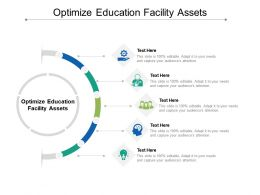 Optimize Education Facility Assets Ppt Powerpoint Presentation Inspiration Clipart Images Cpb