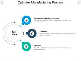 Optimize Manufacturing Process Ppt Powerpoint Presentation Gallery Cpb