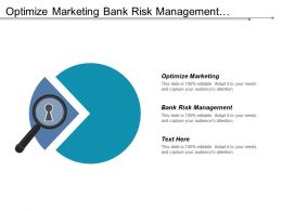 Optimize Marketing Bank Risk Management Operations Service Organisation Marketing Cpb