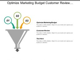 Optimize Marketing Budget Customer Review Demand Generation Digital Advertising Campaigns Cpb