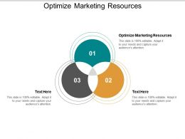 Optimize Marketing Resources Ppt Powerpoint Presentation Inspiration Graphics Download Cpb